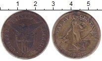 Изображение Монеты Филиппины 50 сентаво 1909 Серебро VF