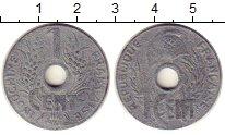 Изображение Монеты Индокитай 1 сантим 1941 Цинк XF