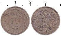 Изображение Монеты Австрия 10 геллеров 1895 Медно-никель XF
