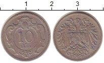 Изображение Монеты Австрия 10 хеллеров 1894 Медно-никель VF