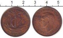 Изображение Монеты Великобритания 1/2 пенни 1942 Бронза VF