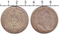 Изображение Монеты Бавария 3 марки 1911 Серебро XF Леопольд