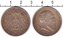 Изображение Монеты Германия Баден 2 марки 1902 Серебро XF