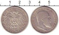 Изображение Монеты Германия Вюртемберг 2 марки 1900 Серебро XF