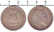 Изображение Монеты Вюртемберг 2 марки 1899 Серебро XF
