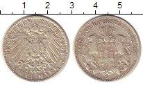 Изображение Монеты Гамбург 2 марки 1903 Серебро XF J