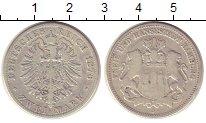 Изображение Монеты Гамбург 2 марки 1876 Серебро VF J