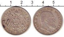 Изображение Монеты Германия Вюртемберг 2 марки 1907 Серебро XF