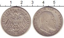 Изображение Монеты Вюртемберг 2 марки 1899 Серебро VF