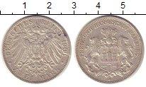 Изображение Монеты Гамбург 2 марки 1903 Серебро VF J