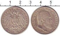 Изображение Монеты Германия Вюртемберг 2 марки 1893 Серебро XF