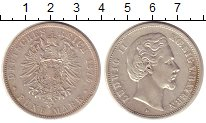 Изображение Монеты Бавария 5 марок 1875 Серебро XF