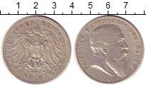 Изображение Монеты Баден 5 марок 1902 Серебро XF