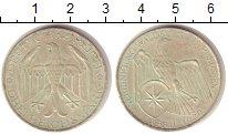 Изображение Монеты Веймарская республика 3 марки 1929 Серебро UNC- Вальдек-Прусский сою