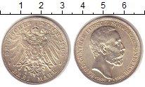 Изображение Монеты Шварцбург-Зондерхаузен 3 марки 1909 Серебро UNC- Карл Гюнтер