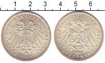 Изображение Монеты Любек 3 марки 1911 Серебро UNC-