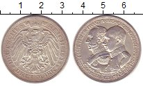 Изображение Монеты Германия Мекленбург-Шверин 3 марки 1915 Серебро UNC-