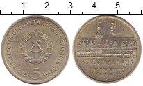 Изображение Монеты ГДР 5 марок 1984 Медно-никель XF Лейпциг. Старая рату