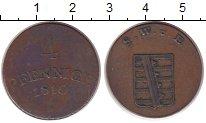 Изображение Монеты Саксен-Веймар-Эйзенах 4 пфеннига 1810 Медь XF