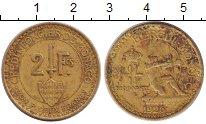 Изображение Монеты Монако 2 франка 1926 Латунь VF