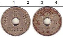 Изображение Монеты Германия Немецкая Африка 5 геллеров 1909 Медно-никель XF