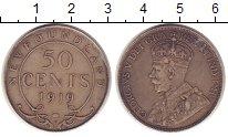 Изображение Монеты Канада Ньюфаундленд 50 центов 1919 Серебро XF