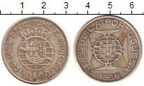 Изображение Монеты Сан-Томе и Принсипи 10 эскудо 1939 Серебро XF