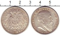 Изображение Монеты Баден 2 марки 1907 Серебро XF