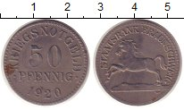Изображение Монеты Германия Брауншвайг 50 пфеннигов 1920 Железо XF
