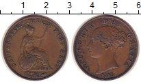 Изображение Монеты Великобритания 1/2 пенни 1855 Медь XF-