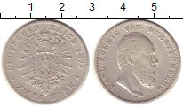Изображение Монеты Вюртемберг 2 марки 1877 Серебро VF Карл