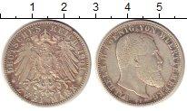 Изображение Монеты Германия Вюртемберг 2 марки 1901 Серебро VF