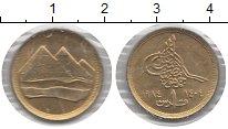 Изображение Монеты Египет 1 пиастр 1984 Латунь XF пирамиды