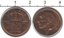 Изображение Монеты Бельгия 50 сантимов 1992 Бронза VF
