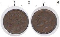 Изображение Монеты Бельгия 20 сентим 1954 Бронза VF