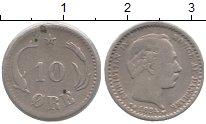 Изображение Монеты Дания 10 эре 1884 Серебро VF Кристиан IX