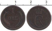 Изображение Монеты Дания 1 эре 1880 Медь VF Кристиан IX
