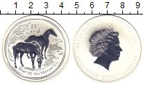 Изображение Монеты Австралия 1 доллар 2014 Серебро Proof- Елизавета II. Год ло