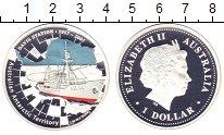 Изображение Монеты Австралия 1 доллар 2007 Серебро Proof- Елизавета II. Антарк