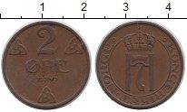 Изображение Монеты Норвегия 2 эре 1940 Бронза XF Хаакон VII.