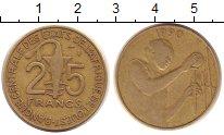 Изображение Монеты Западно-Африканский Союз 25 франков 1990 Латунь XF