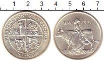 Изображение Монеты Исландия 500 крон 1974 Серебро UNC Викинги.Первые посел
