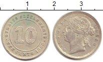 Изображение Монеты Стрейтс-Сеттльмент 10 центов 1900 Серебро XF