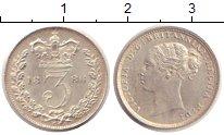 Изображение Монеты Великобритания 3 пенса 1886 Серебро XF Виктория