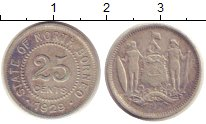 Изображение Монеты Великобритания Борнео 25 центов 1929 Серебро VF