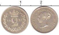 Изображение Монеты Великобритания 2 пенса 1874 Серебро XF Королева  Виктория.