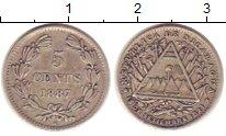 Изображение Монеты Никарагуа 5 сентаво 1887 Серебро XF