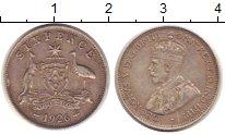 Изображение Монеты Австралия 6 пенсов 1926 Серебро VF