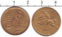 Изображение Монеты Литва 10 центов 1925 Латунь VF Всадник