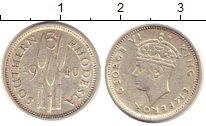 Изображение Монеты Родезия 3 пенса 1940 Серебро VF